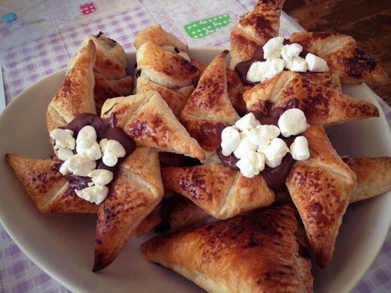 Ingezonden door Dewi – nutella bladerdeeg snacks