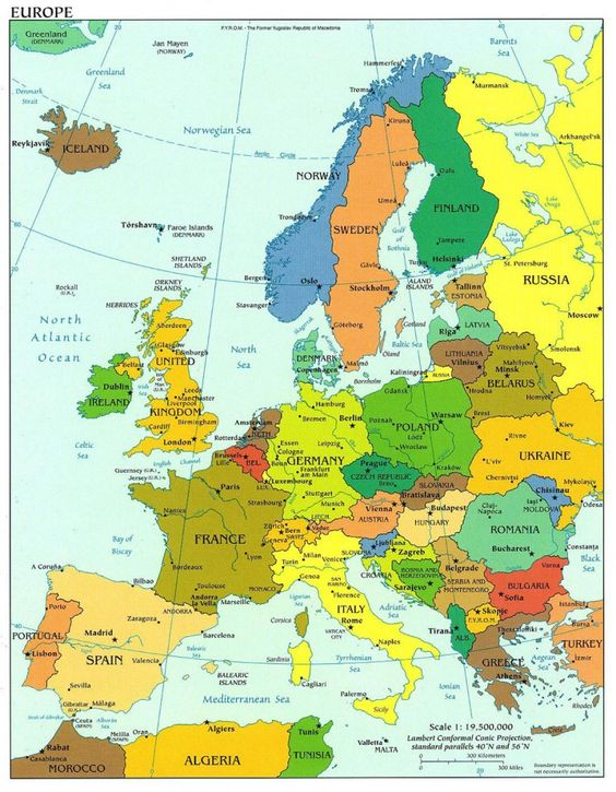 This map of Europe shows how Germany is not as big as it seems It – Germany in Europe Map