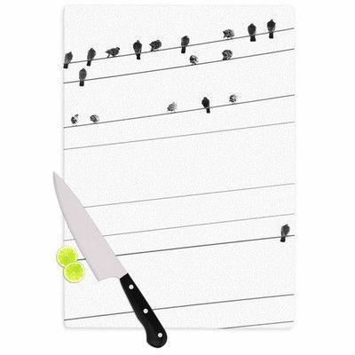 KESS InHouse Birds on Wire Cutting Board Size: 1