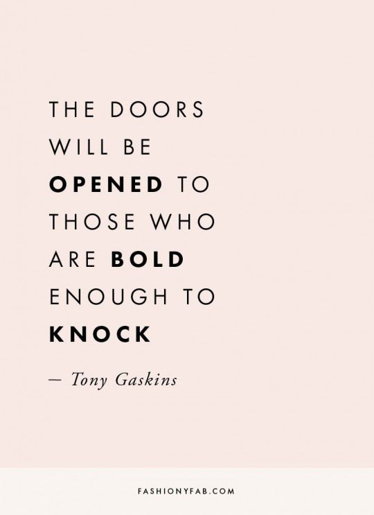 "Be Bold Enough quote to inspire those entering ""new month, new goals"""