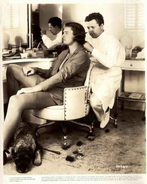 A rare behind the scenes shot of Hollywood legend Errol Flynn having his hair done for his role in the 1938 adventure classic, The Adventures Of Robin Hood! Courtesy of Terry Soto