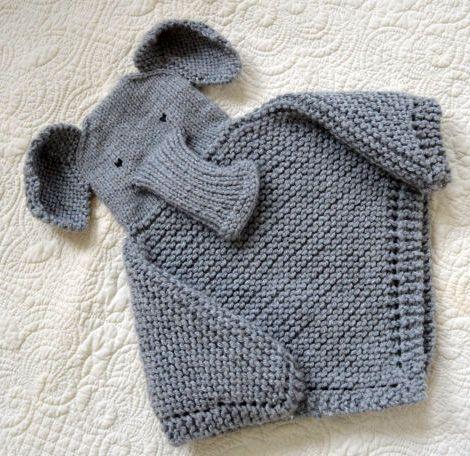 Knitting Pattern Baby Blanket Elephant : Knitting patterns, Trunks and Knitting on Pinterest