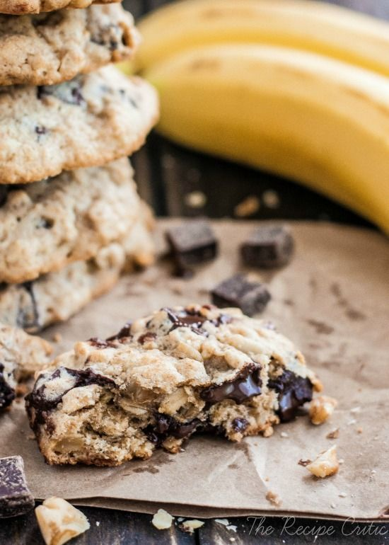 Chocolate chunk cookies, Bananas and Cookies on Pinterest