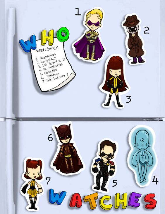 WATCHMEN Cute hand cut magnets. Silk Spectre 1/2 by BantamBB, $3.50