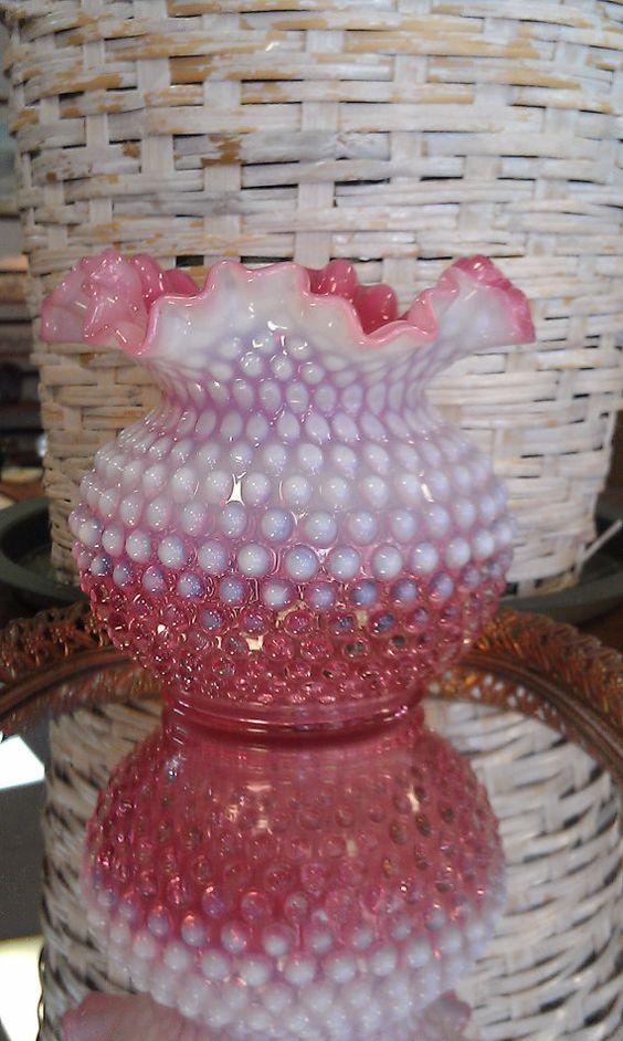 Fenton Cranberry Hobnail Vase Treasures I Collect