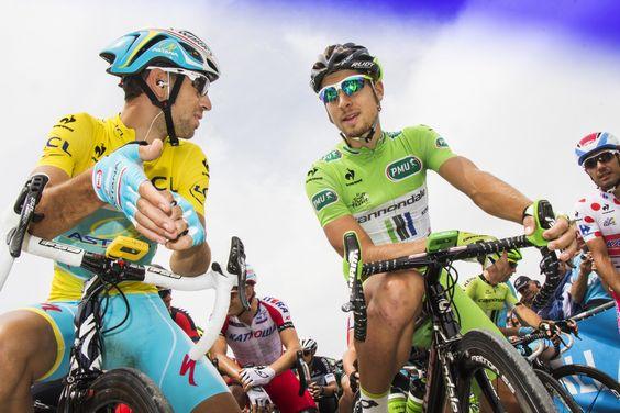 Tour de France 2014. Tallard. Vicenzo Nibali et Peter Sagan. © Photo Pat.Domeyne/Juillet 2014