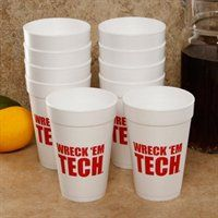 Wreck 'em Tech! Foam cups... Perfect for gameday tailgates!