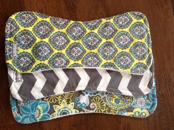 Gender neutral baby burp cloths by LittleLolliShop on Etsy, $18.00