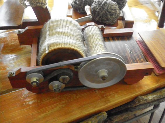 My drum carder,a  morrison drum carder, create and blend my own art batts..love it.