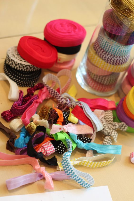 Make your own hair ties for less than a quarter each