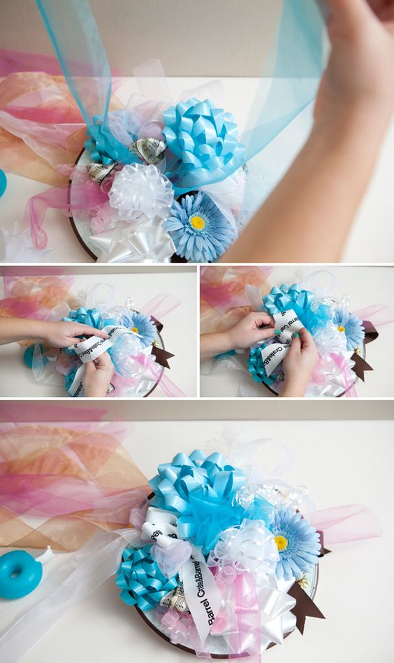 Bridal Bouquet Out Of Ribbons : How to make a bridal shower bow bouquet easy steps