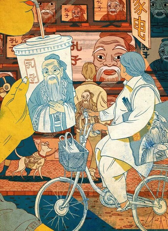 oriental bicycle, by Victo Ngai