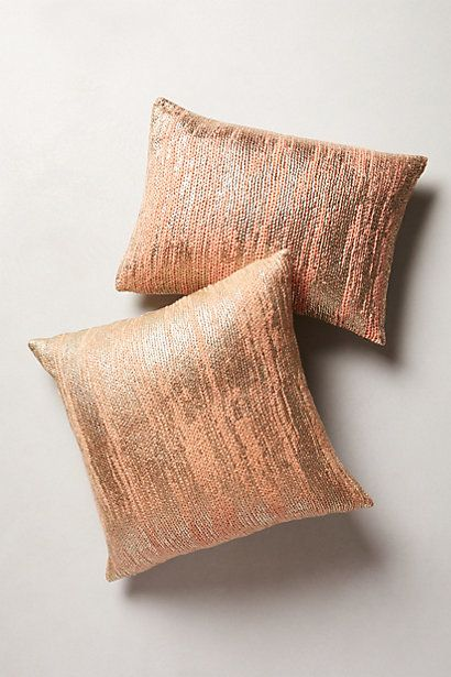 Plaited metallics pillow copper throw pillows couch and for Peach and gold bedroom