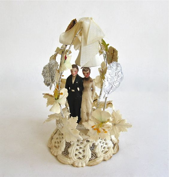 1930s wedding cake vintage and groom wedding cake topper from the 1930 10084