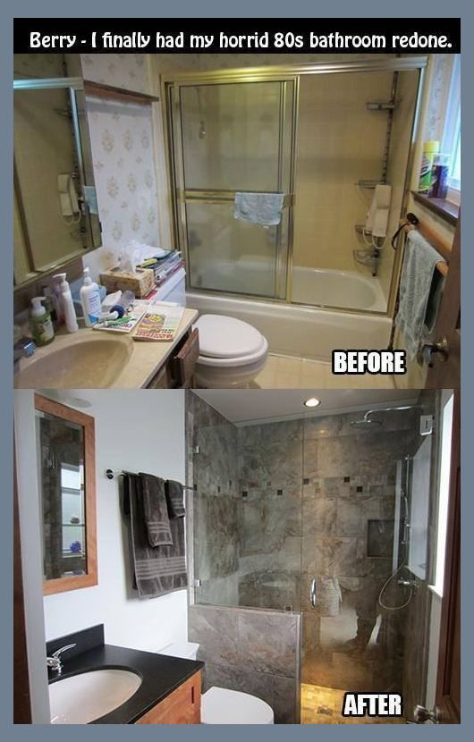 Before And After 40 Amazing Bathroom Makeovers Ideas For