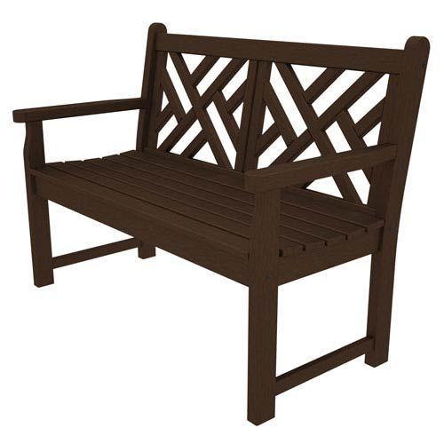 Sensational Polywood Cdb48Ma Chippendale Mahogany 48 Inch Bench Cjindustries Chair Design For Home Cjindustriesco