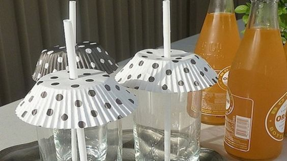 Keep Insects out of Sugary Drinks with Cupcake Liners