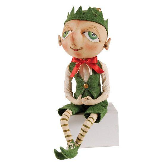 Santa's Helper. Green Eyed Elf Guy. Bartholomew Elf has fun being himself. Dressed in Christmas green with his eyes all a gleam. Shop Joe Spencer Christmas Now!