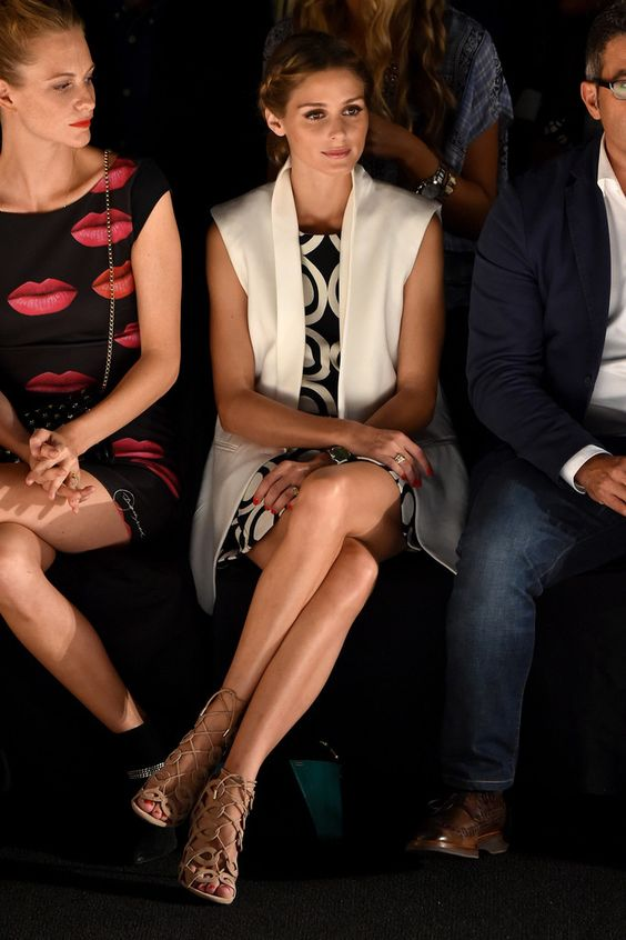 Olivia Palermo: Desigual - Front Row - Mercedes-Benz Fashion Week Spring 2015