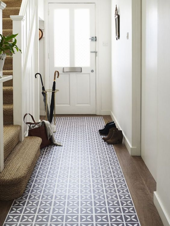 With its nature-inspired pattern in a soft shade of violet, bring colour and charm to hallways with with @deehardwicke's Lattice Hellebore vinyl floor tiles from Harvey Maria. http://www.harveymaria.co.uk/Floor-Range/dee-hardwicke-for-harveymaria/lattice-hellebore