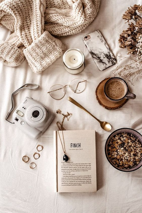 Coffee, books, bed, what more do you need?