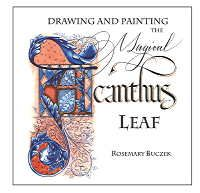 Master Penmen, illuminator, illustrator and calligrapher Rosemary Buczek offers three different levels of drawing and painting the Acanthus Leaf. She demonstrates her drawing and, most of all, her painting techniques in this two hour dvd. She has included multiple patterns for you to download and use in your own projects as well. This is a valuable reference for anyone who has taken Rosemary's classes or wishes they could!