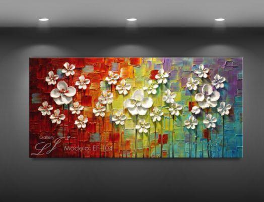 Cuadros Decorativos Flores óleo En 2019 Cuadro De Flores