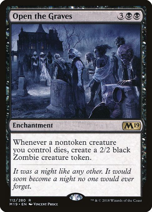 Open The Graves M19 Magic The Gathering Cards The Gathering Black Zombie