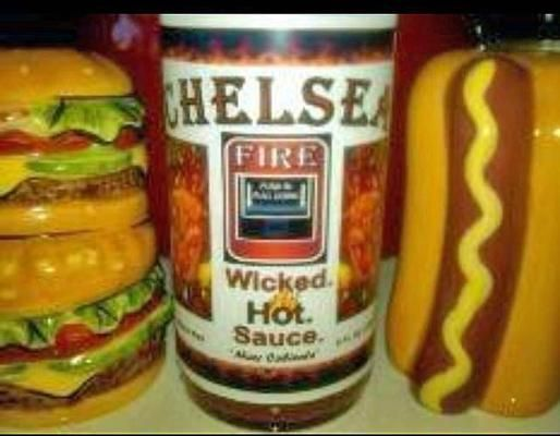 Chelsea Wicked Hot Sauce: Inspired by the Chelsea Fires of 1908 and 1973, this hot sauce comes in at $5 per bottle.