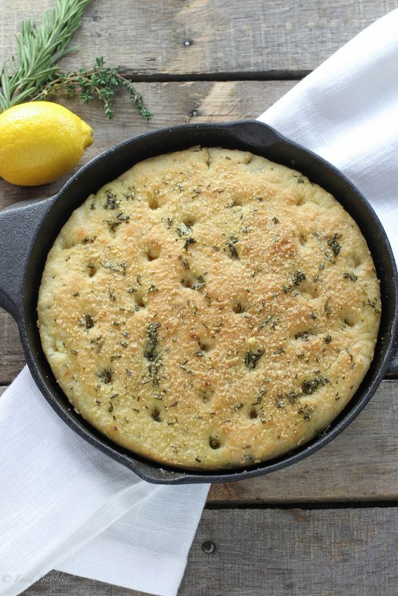 ... with this quick, easy to make herbed skillet focaccia recipe
