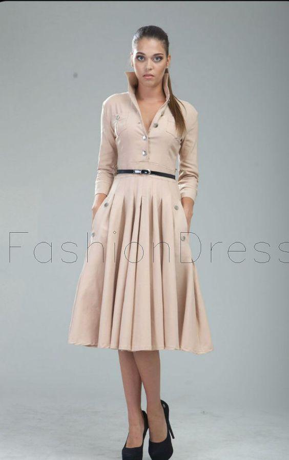 style midi dress vintage