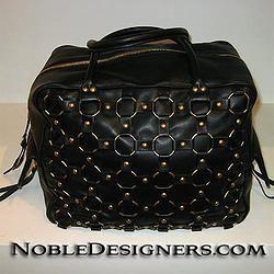 Dior Croisette Calfskin Bowler Handbag Black