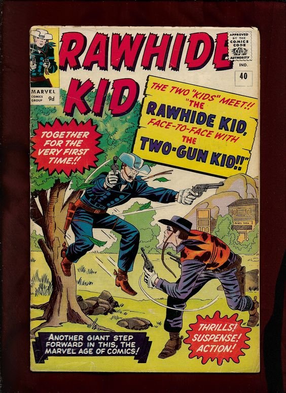 Marvel Comics, Rawhide Kid #40, Jack Kirby Pencils,  Sol Brodsky Inks, Stan Golderberg Colours. Script by Stan Lee.
