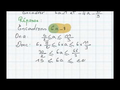 Exercice41 Sur L Ordre Des Nombres Reels Et Operations 3eme Ac Youtube