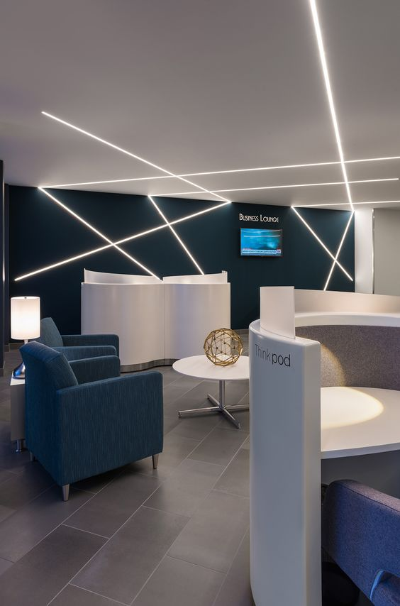 Ceiling Led Lighting Systems : Receptions offices and design on