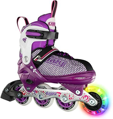 New Crazy Skates Adjustable Inline Skates Light Up Wheels Roller Blades Girls Boys Available Two Colors Model 168 Online Fortrendytoprated Inline Skating Roller Shoes Roller