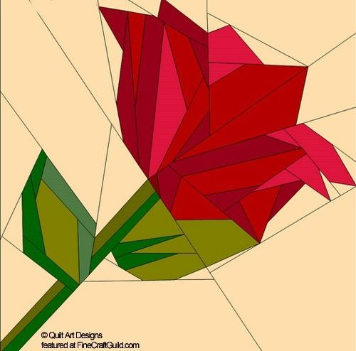 patrones de papel empalme edredón flores