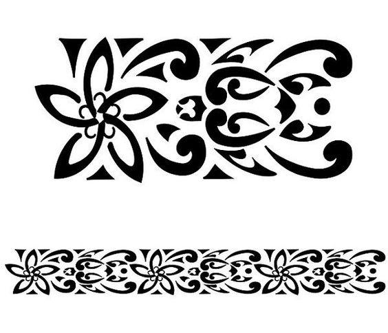 turtles plumeria koru tattoo