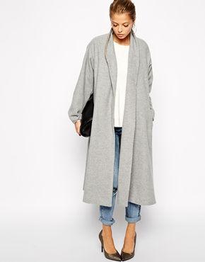 ASOS Coat in Midi Swing Trapeze | Coats &amp Jackets | Pinterest