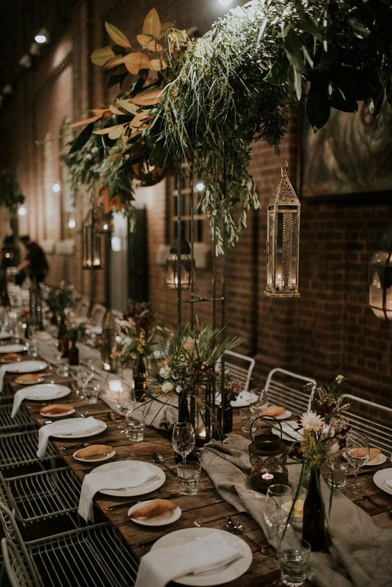 Moody Industrial Wedding At Newcastle Museum Weddings Weddingdecor Ru With Images Industrial Wedding Table Wedding Hall Decorations Industrial Wedding Table Decorations