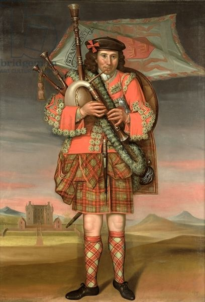 Portrait of William Cumming, Piper to the Laird of Grant, 1714 (oil on canvas)
