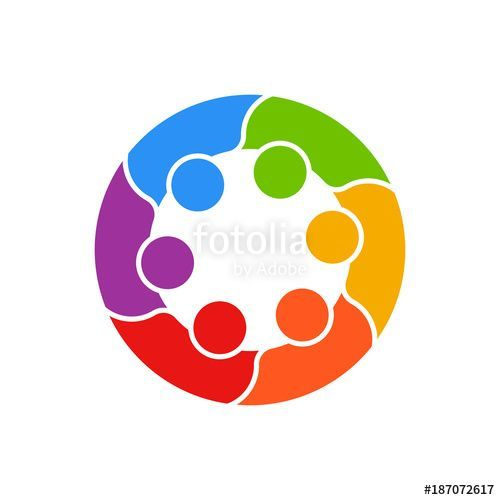 Meeting People Circle Business Logo Vector Business Connection