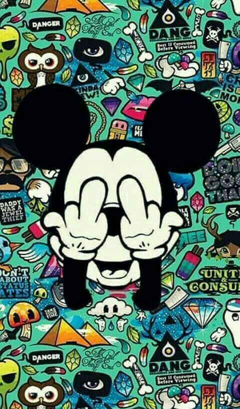 Pin By Earth Child O 0 On Free Falling Mickey Mouse Wallpaper Graffiti Wallpaper Cute Wallpapers