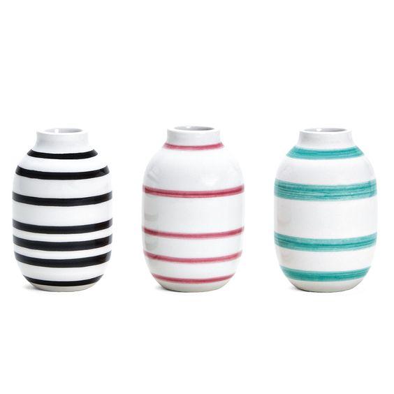 Omaggio Bolig, Miniature Vases, Set of 3, Kähler