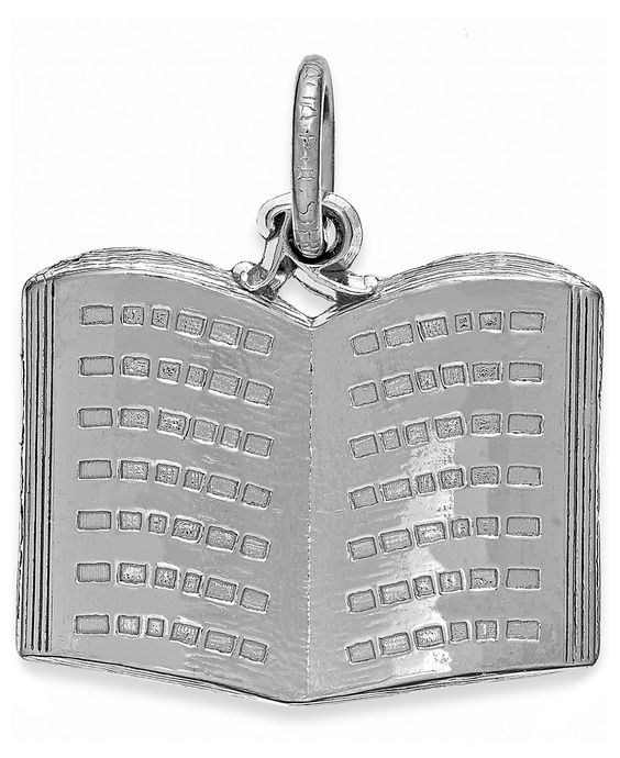 Rembrandt Charms Sterling Silver Book Charm - Jewelry & Watches - Macy's