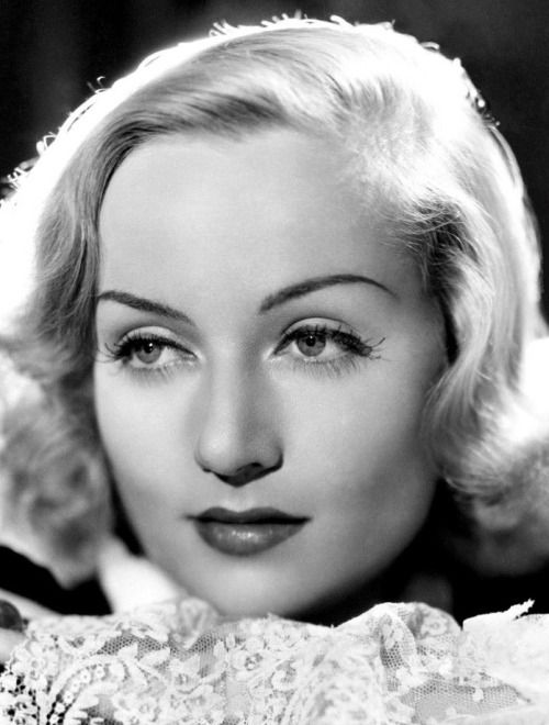 """ Close up shot of Carole Lombard, 1930s """
