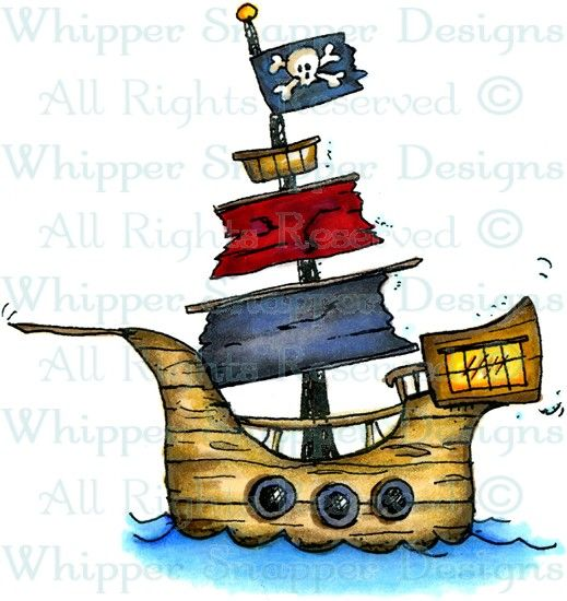Pirate Ship Pirates Rubber Stamps Pirate Ship Drawing