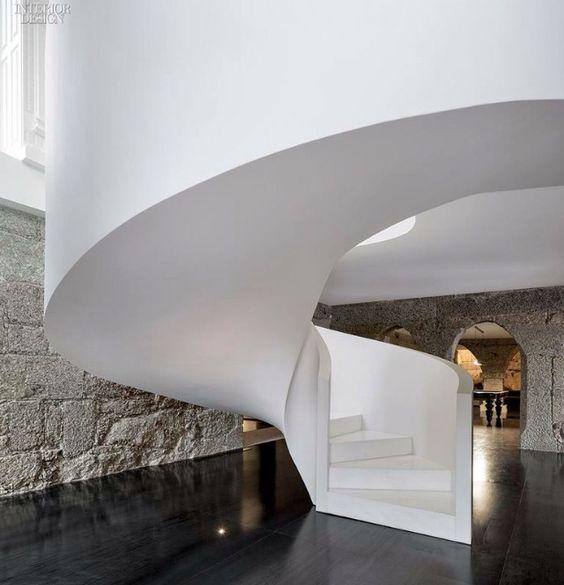 Modern concrete stairway