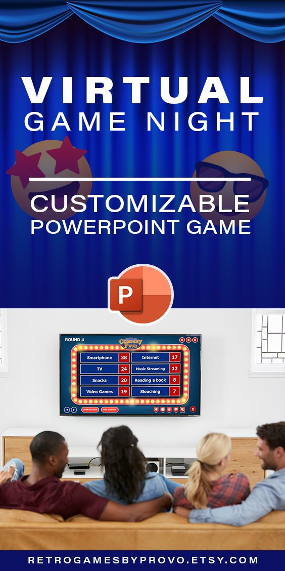 Family Friendly Trivia Game Customizable Powerpoint Template Etsy In 2021 Powerpoint Games Powerpoint Game Templates Family Feud Game Family feud online template