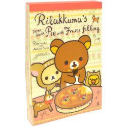 Rilakkuma Notebook & Stickers - Fruit Pie notebook, only $9.99 at OyatsuCafe.com